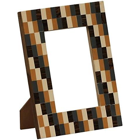 SouvNear Cornice foto/foto supporto da tavolo in resina multicolor–Handmade in MDF e con motivo a mattoni accessori camino, decorazioni casa/ufficio Decor