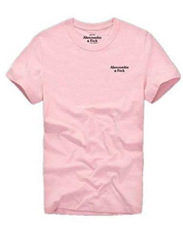 BOMOVO Herren AF T-Shirt Rundhals-Ausschnitt Shirt Rose