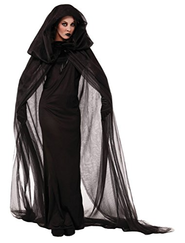 Honeystore Damen Schwarz Witch Weihnachten Party Kostüm Fancy Anime Cosplay Party Kleider Schwarz (Make Ideen Up Batgirl)