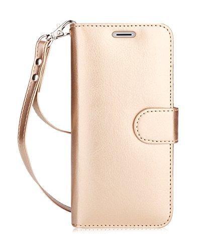fyy Galaxy S8Plus Case, [RFID-blockierender Wallet] 100% Handgefertigt Wallet Case Stand Cover Kreditkarte Displayschutzfolie für Samsung Galaxy S8Plus