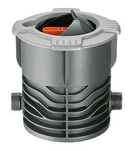 Vanne d'arrêt de GARDENA: régulation ou coupure des arroseurs individuels ou de groupes d'arroseurs, installation souterraine, couvercle sphérique escamotable, filtre amovible (2724-20)