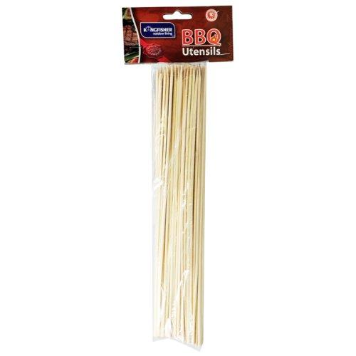 Kingfisher - Conjunto 2 packs de 80 pinchos de madera para brochetas (total 160 pinchos) para barbacoa