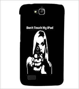PrintDhaba Girl and Gun D-2370 Back Case Cover for HUAWEI HONOR HOLLY (Multi-Coloured)