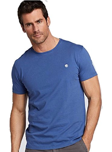 Timberland MEN'S CLASSIC SLIM FIT EMBROIDERED LOGO T-SHIRT (2XL, TRUE BLUE) -