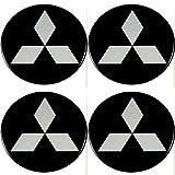 Radnabenkappen Mitsubishi Embleme Felgen Aufkleber Logo Nabendeckel Nabenkappe Radkappe 4 x 56 mm