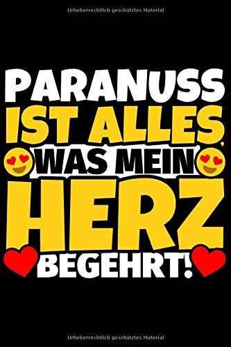 Notizbuch liniert: Paranuss Geschenke für Paranuss-Liebhaber lustig