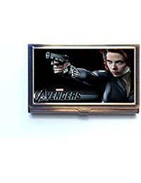 Black Widow Custom Unique bronze Business name Card Case box Holder Lovely Gift