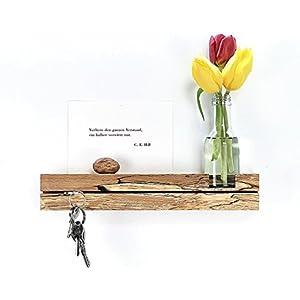 Schlüsselleiste Buche gestockt mit Blumenvase