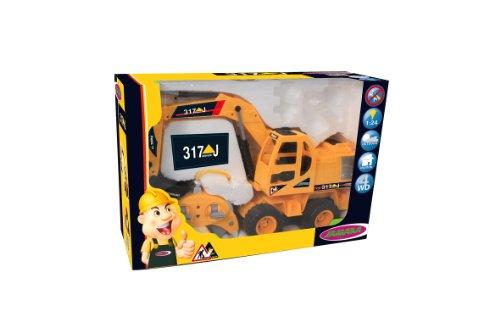 RC Auto kaufen Baufahrzeug Bild 5: Jamara 403790 - RC Bagger 317J 1:24 3 Kanal inklusive Fernsteuerung*