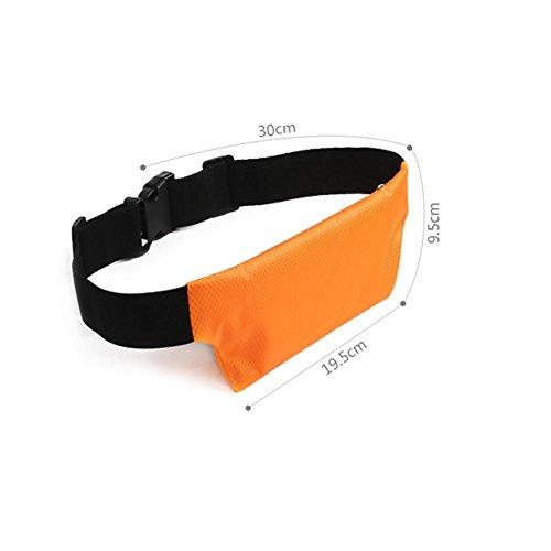 Helle und atmungsaktive im Freiensport-Taillen-Beutel, Sommer-Multifunktionslauf-Taillen-Beutel, Anti-Diebstahl-unsichtbare Handy-Taillen-Beutel, Dame-Spielraum-persönliche unsichtbare wasserdichte Ta orange