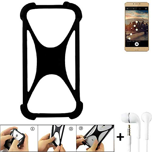 K-S-Trade Bumper Allview X3 Soul Plus Schutzhülle Handyhülle Silikon Schutz Hülle Cover Case Silikoncase Silikonbumper TPU Softcase Smartphone, schwarz (1x), Headphones