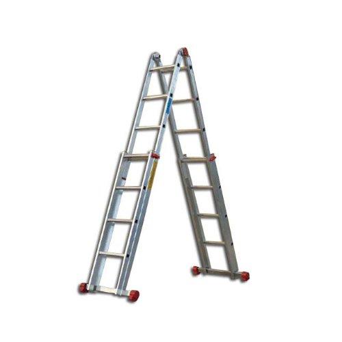 Scala Multiuso Alluminio 4+4 16 gradini