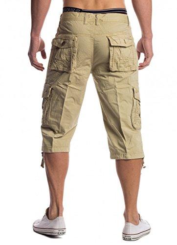 Uomini Capri Shorts 3/4 René ID1487 Khaki
