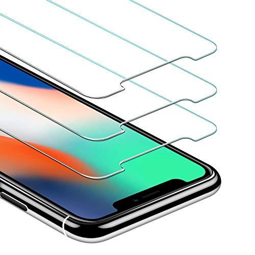 JETech Pellicola Protettiva per iPhone X in Vetro Temperato, 3 Pezzi