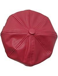 Lawevan Unisex Hombres Mujeres PU pintor de la boina del sombrero de copa