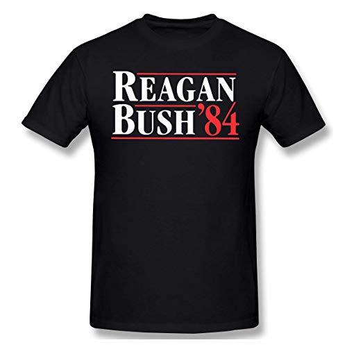 Mens Classic Reagan Bush 84 T-Shirt Black (Reagan-bush-tank-top)