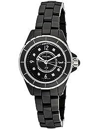 Chanel Women's J12 Black Diamond Black Dial Black Ceramic