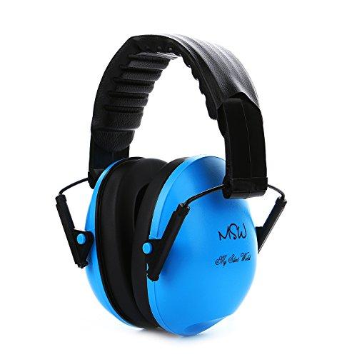 Gehörschützer Ohrenschützer Rauschunterdrückung Gewehrschießen Verstellbarer Schallschutz Ohrenschützer für Schlafende Konzertreisen(Blau)