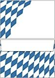 Briefumschläge Bayern Raute 50 Stück Kuverts DIN C6 ohne Fenster 6152-C6