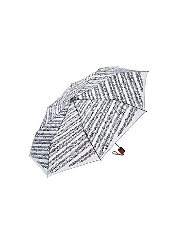 Mini Travel Umbrella: Sheet Music (White)