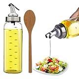 Timgou 500ml d'huile d'olive Distributeur à huile avec une bouteille en verre de...