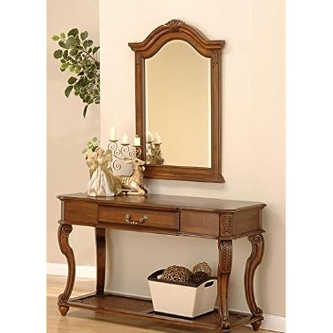 Aston espejo y consola de caoba reproducción de estilo antiguo Salón Juego de mesa