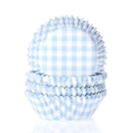 Blue Gingham Mini Cupcake Cases (Gingham Mini Blue)