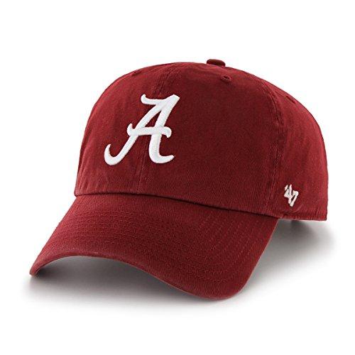 alabama-crimson-tide-47-brand-ncaa-clean-up-adjustable-hat-chapeau-red