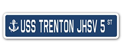 USS Trenton jhsv 5Street Sign US Navy Schiff Veteran Sailor Geschenk -
