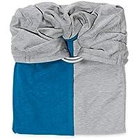 Petite Echarpe sans Noeud - Gris Chiné, Bleu Canard (Reversible) - JPMBB - 51ddacf23d7