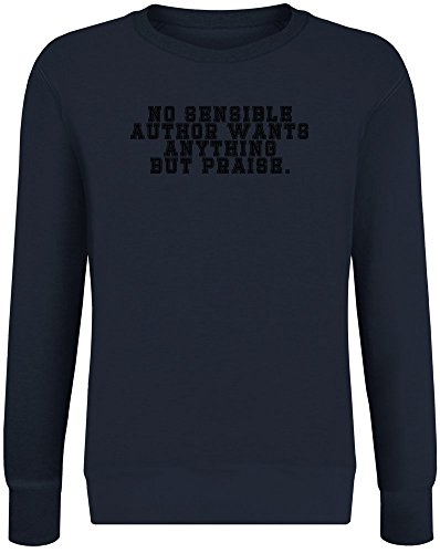 No Sensible Author Sweater-Jumper for Men & Women - Soft Cotton & Polyester Blend - High Quality DTG Printing - Custom Printed Unisex Clothing