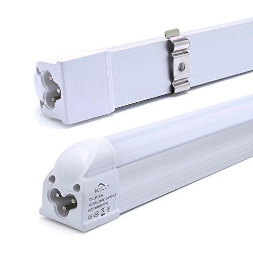 2x Auralum T5 G5 60CM 8W 810LM recycelbare LED Leuchtstofflampe Röhre mit Fassung kaltweiß (6000-6500K), 48* SMD 2835, LED Tube mit RoHs und CE Zertifikation