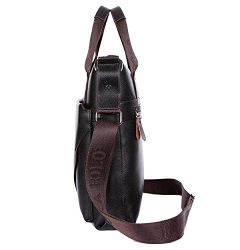 Männer Handtasche Rindsleder Casual Ambiente Schultertasche Diagonal Paket High Grade Business Männliche Tasche Black