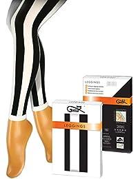 Gatta Fashion Leggings Stripes - sexy schwarz-weiß gemusterte Leggings