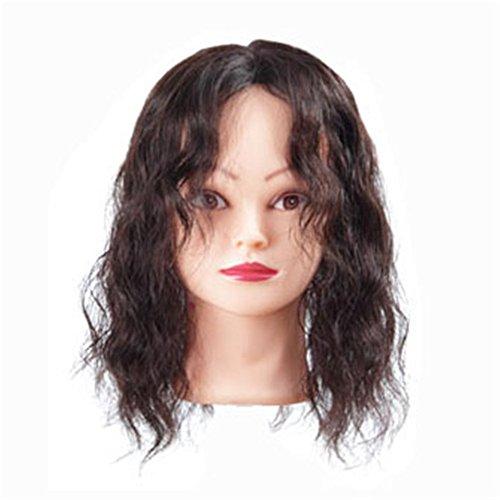 p in Echthaar Hair Topper Hand Made gebunden Top Stück Toupets ()