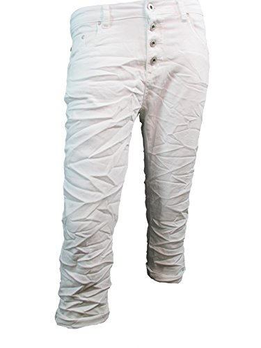 sweat-denim-krempel-bermuda-capri-jeans-hose-offene-knopfleiste-xs-34-hard-white