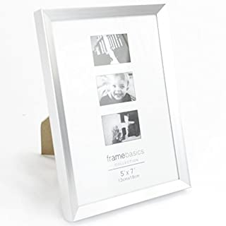 18 x 13cm Bilderrahmen Fotorahmen Modern für 18 x 13cm Fotos (Silber) :40956: