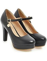 CXQ-Talons QIN&X High Heels Stiletto femmes Parti plate-forme peu profonde bouche discothèque Pompes Chaussures, rouge, 45