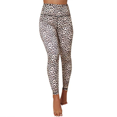 Bluestercool Pantaloni con Stampa Leopardata da Donna Sports Gym Running Leggings di Yoga