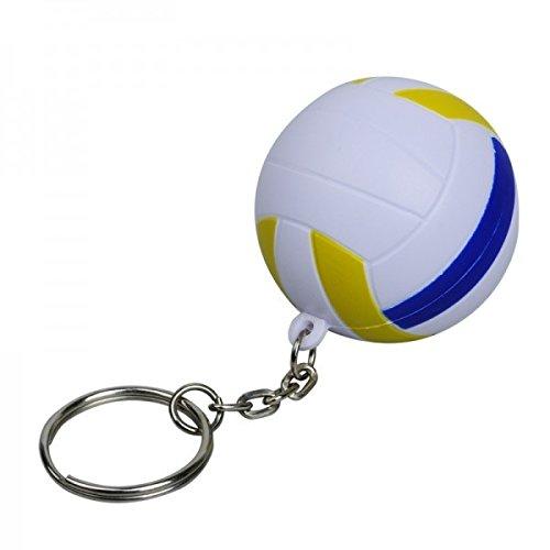 Schlüsselanhänger Volleyball Ø 40 mm 6 Stück | Anti Stress – Fanartikel - Mitgebsel für Kinder - Werbeartikel