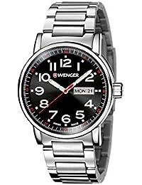 WENGER Unisex-Armbanduhr Analog Quarz Edelstahl 01.0341.104