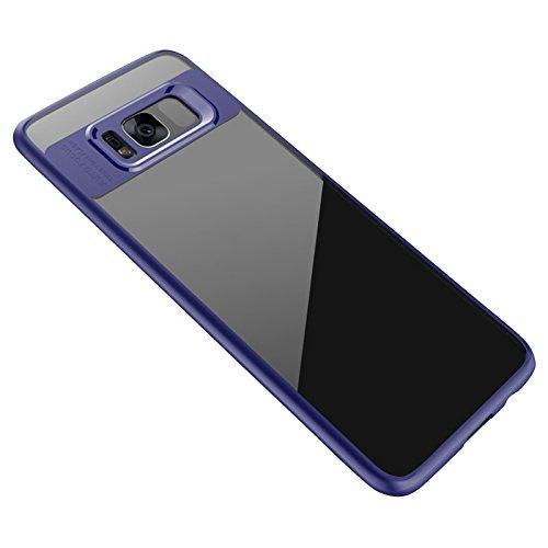 Auntwhale Samsung S8 Case Silikon Anti-Drop-Shell für Samsung S8 Fall Fingerabdruck beständig, schweißresistent.Verteilt Schutz vor Kratzern, Stößen, Schmutz, Fett - Navy blau -