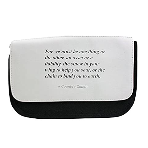 Pencil case with For we must be one thing or the other, an asset or a liability, the sinew in your wing to help you soar, or the chain to bind you to