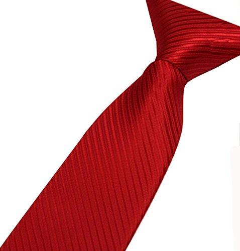 Corbata rojo vino bermellón para Hombre