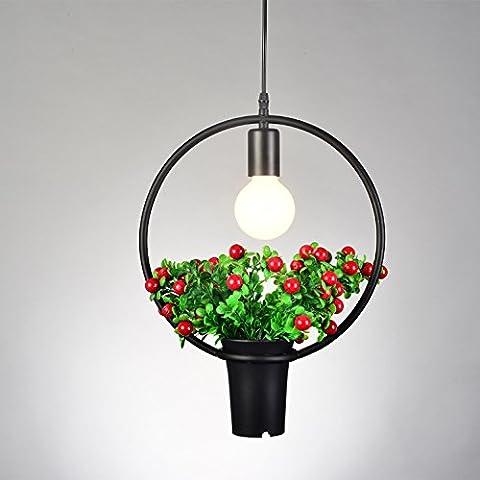 CHJK BRIHT La geometria nordici ferro piattini di vegetali al di sotto dei POT del fiore illumina Ciondolo americano ristorante negozi di verde-shik illumina Ciondolo appendere le luci pendenti Cafe