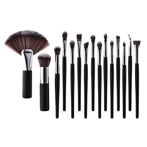 Sharplace 15x Kit de Pinceau de Maquillage Cosmétique Professionnel Ensembles Outils Pinceau Brosse Poudre Fond de Teint Makeup Brushes à Maquillage Yeux Nez Lèvres Visage - Argent