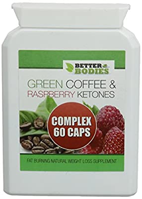 Better Bodies Raspberry Ketone and Green Coffee Bean Extract Complex - Pack of 60 Capsules from Bionutricals