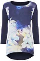 Womens Graphic Floral Print Top - Ladies - - Size 10 12 14