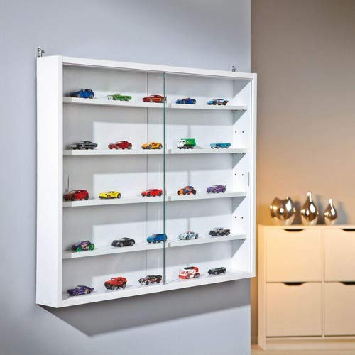 41Y7jD3FvjL - Easy Home  Simply A20 -  Vitrina de  madera MDF y vidrio, Blanco