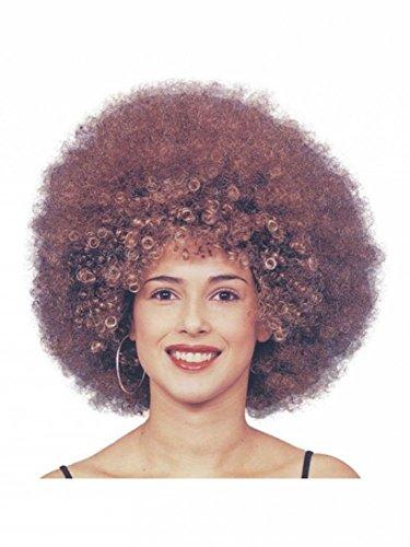 Beyonce Afro Perücke - Braune Locken - Damen Herren Rockstar 70er Jahre Disco-Star